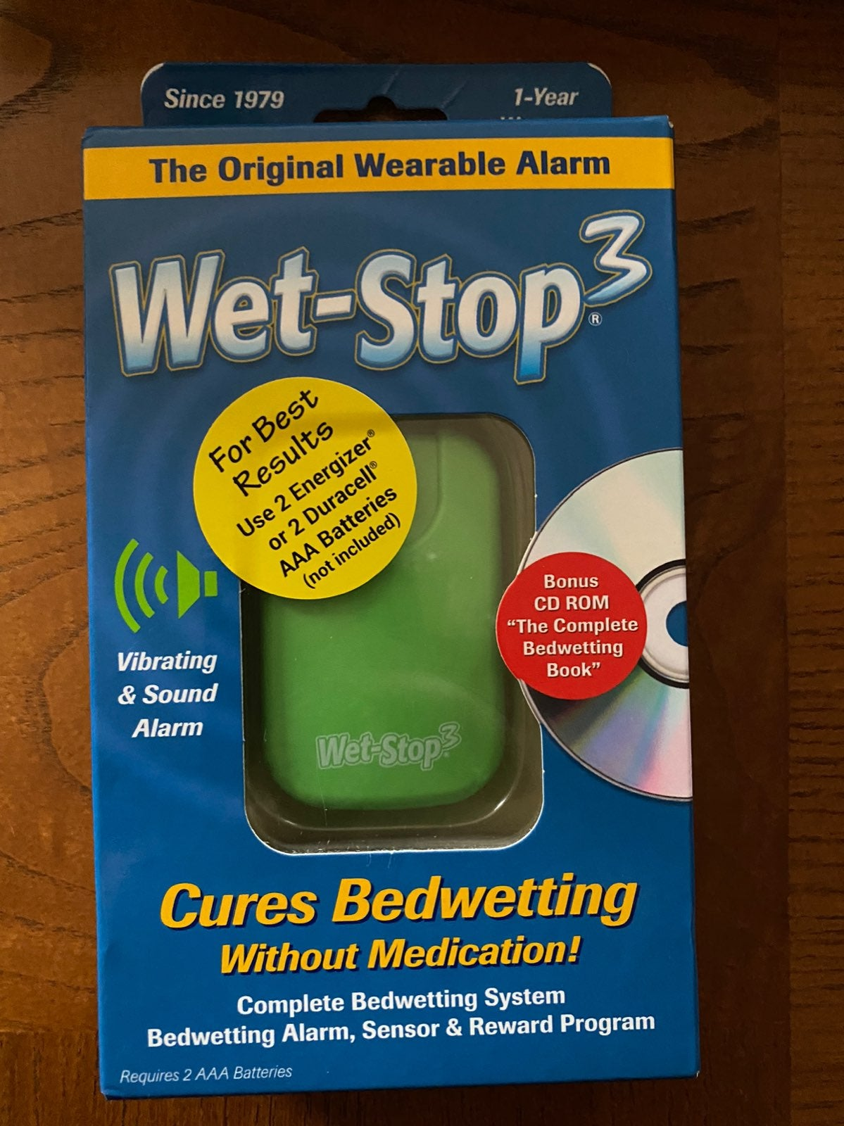 Wet Stop 3 Bedwetting Alarm- New!