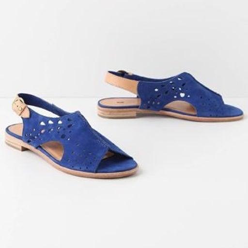 Anthro Azure Aperture Sandals 7.5