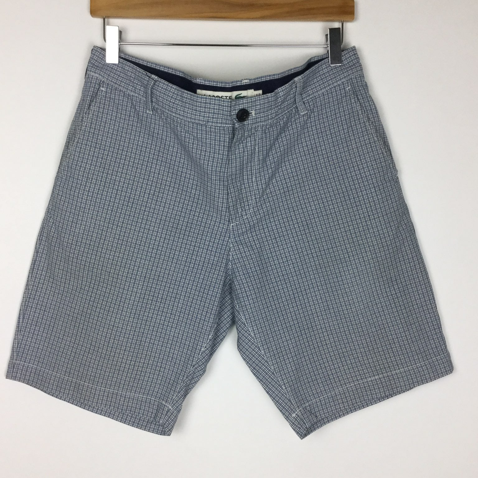 Lacoste Flat Front Shorts Size 32