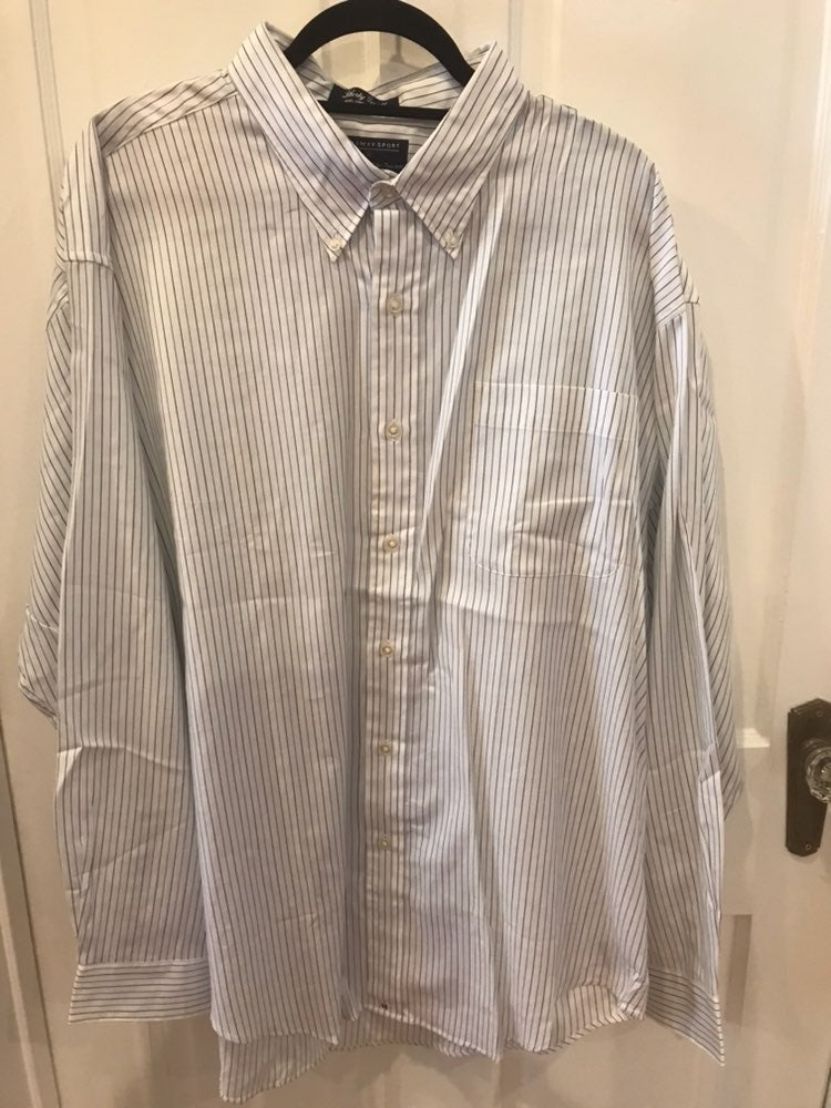 Hathaway XXL Long Sleeve Dress Shirt (Wh
