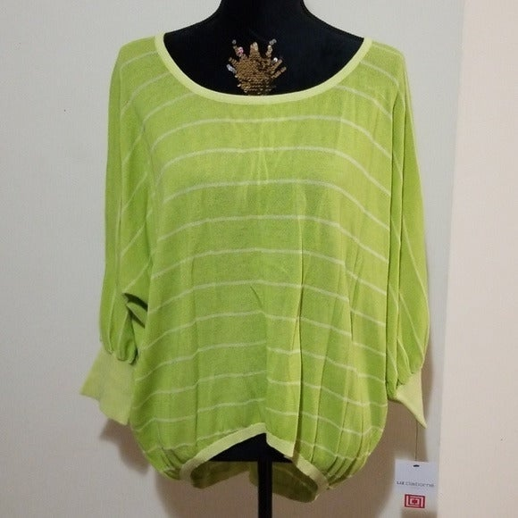 LizClaiborne Green Glow High Low Sweater