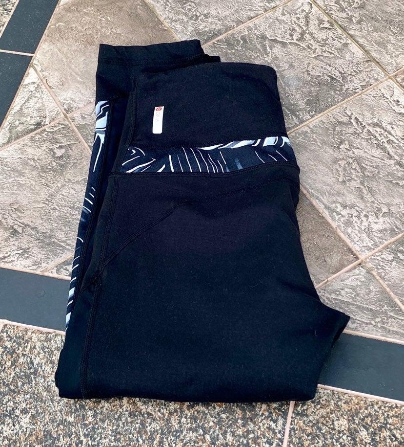 Zella Black Crop Yoga Pants Women's Sz S