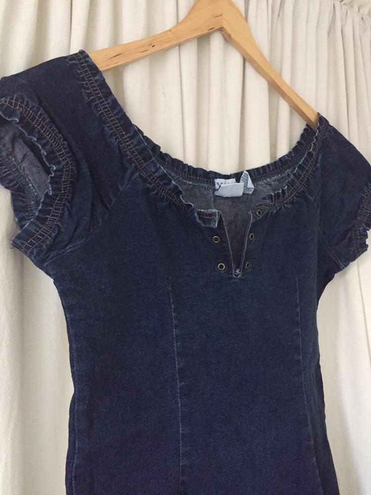 CAROLINA BLUES DENIM DRESS BLUE Size 14