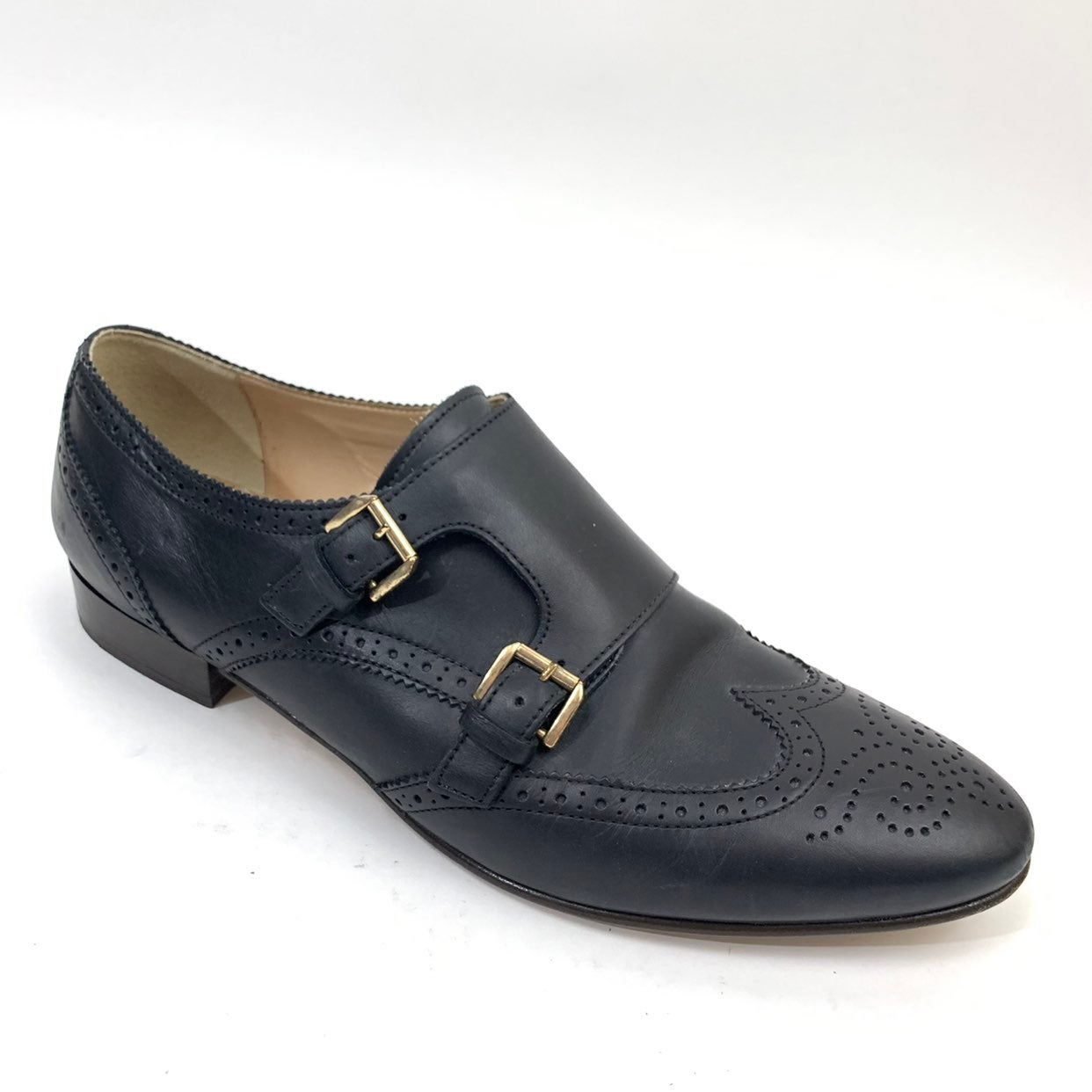 J Crew Monk Strap Perforated Loafer 10