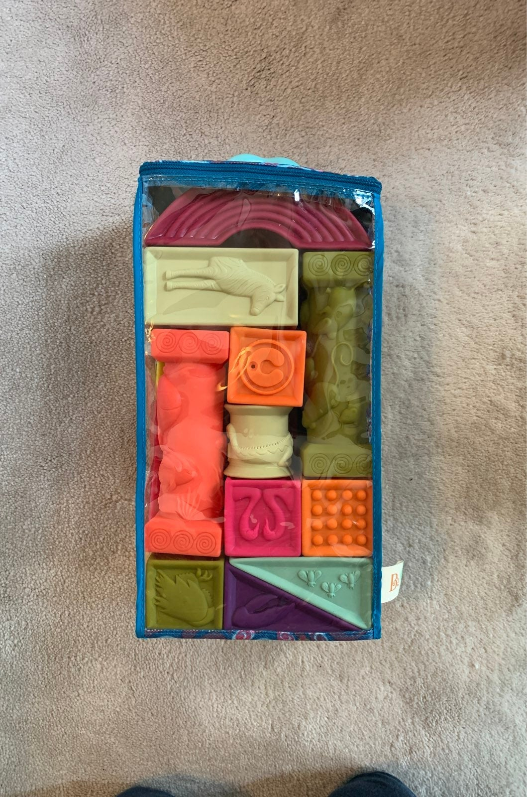 B. Toys soft alphabet blocks