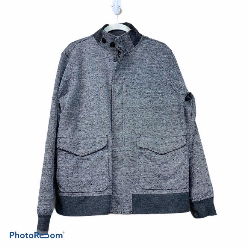 Kane & unke gray zip jacket L