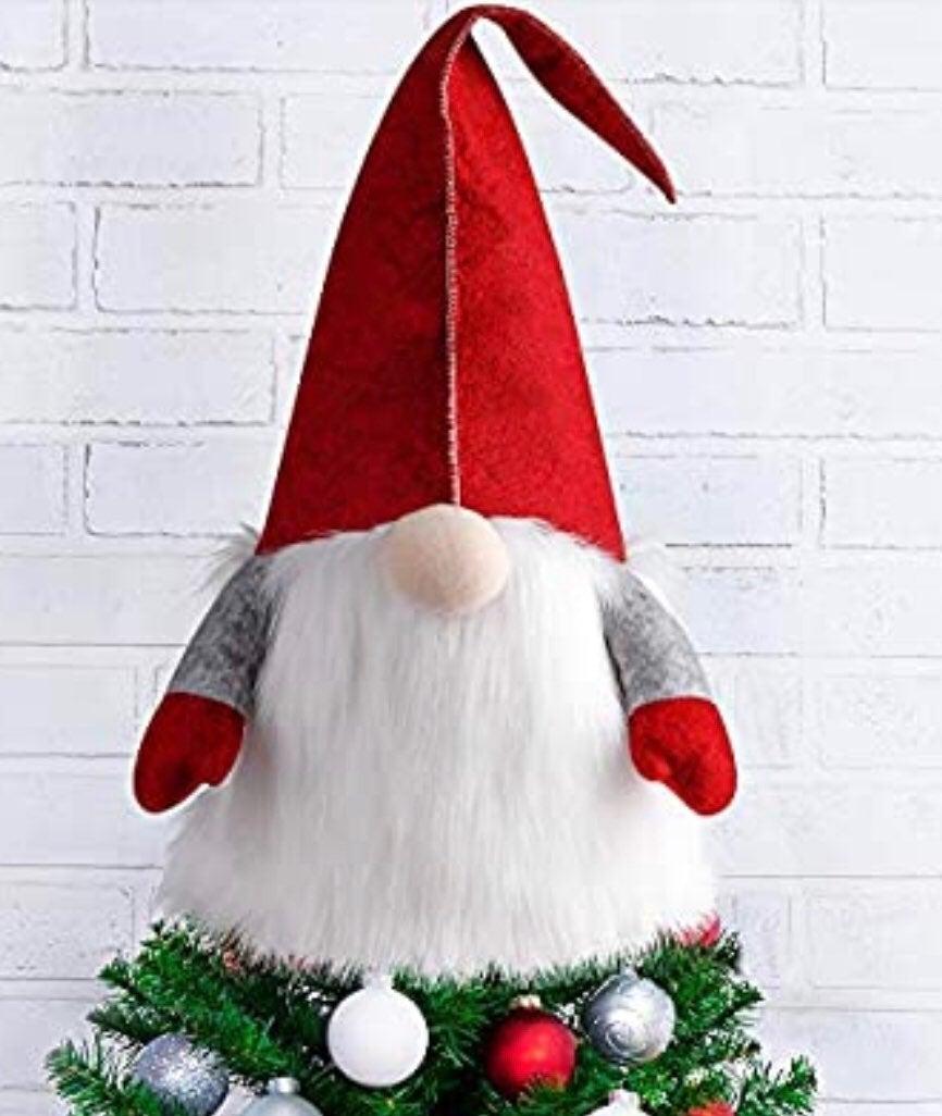 Gnome Christmas tree topper or decor