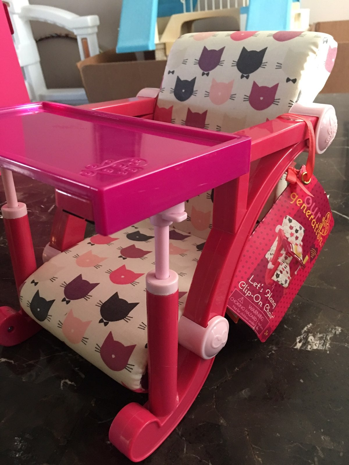 Highchair booster seat for 18in doll