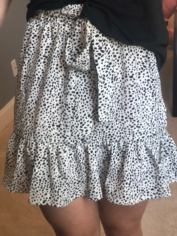 dalmatiom print skirt