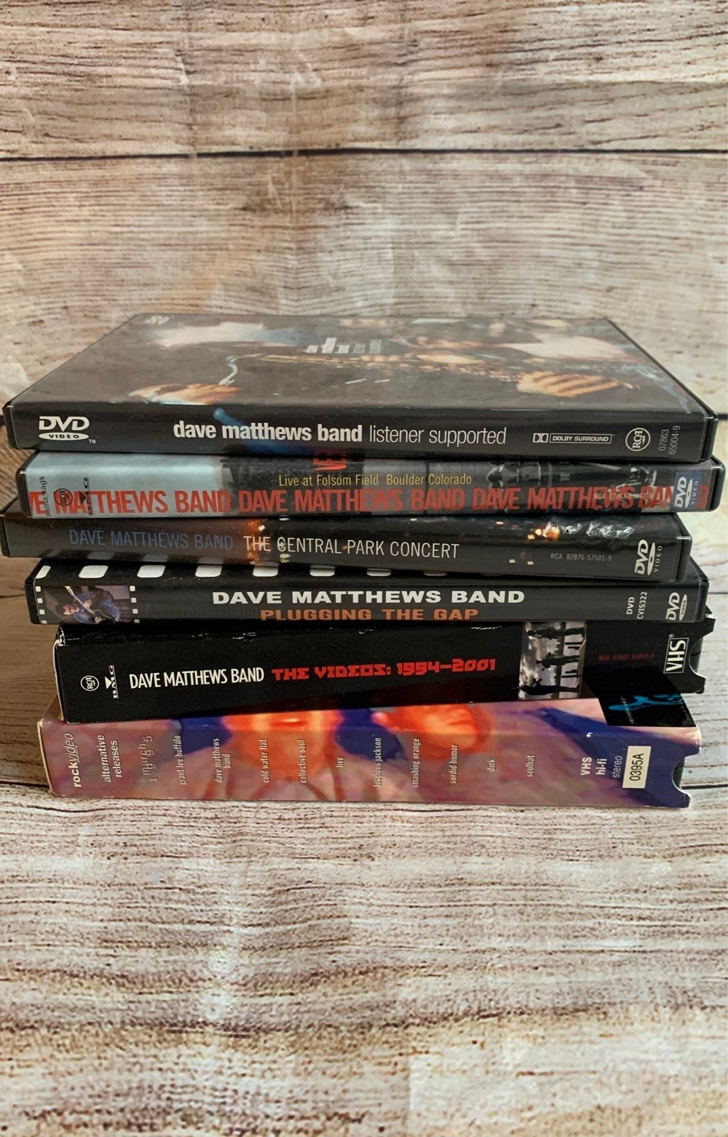 Dave Matthews Band DVD/VHS Bundle
