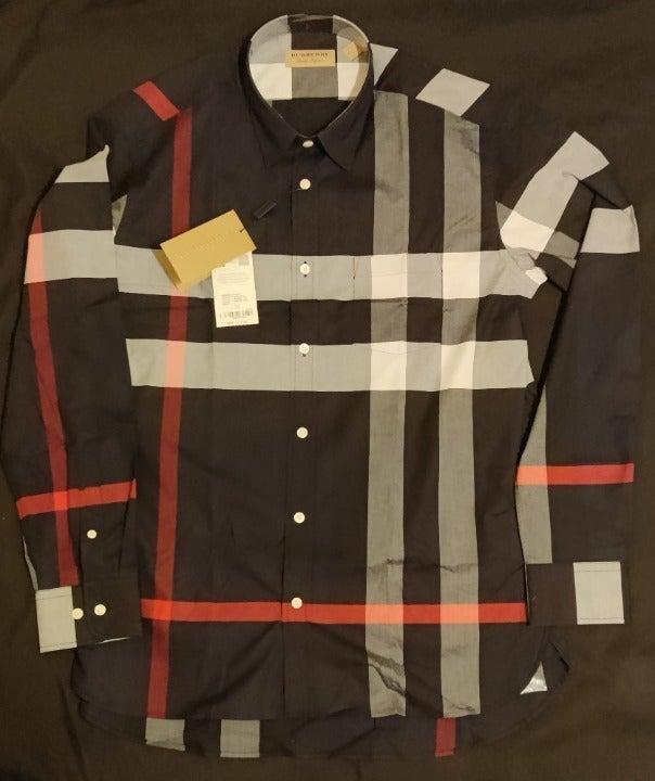 Burberry Slim Fit Check Sport Shirt XL