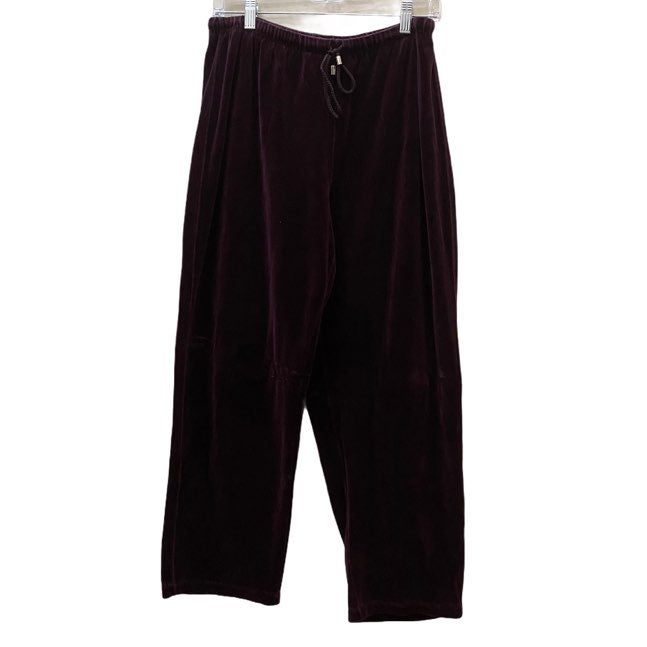 Karen Scott velvet purple sweatpants