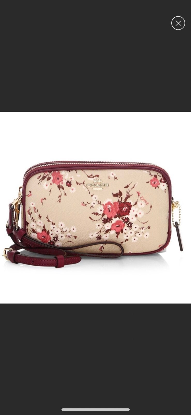 Coach Sadie Floral Leather Crossbody