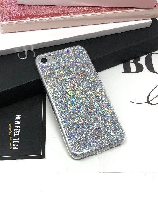 NEW iPhone 7/8 Silver Glitter Case