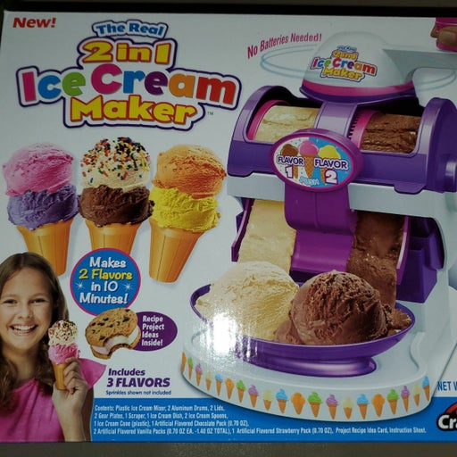 The real 2 in 1 one ice cream Maker