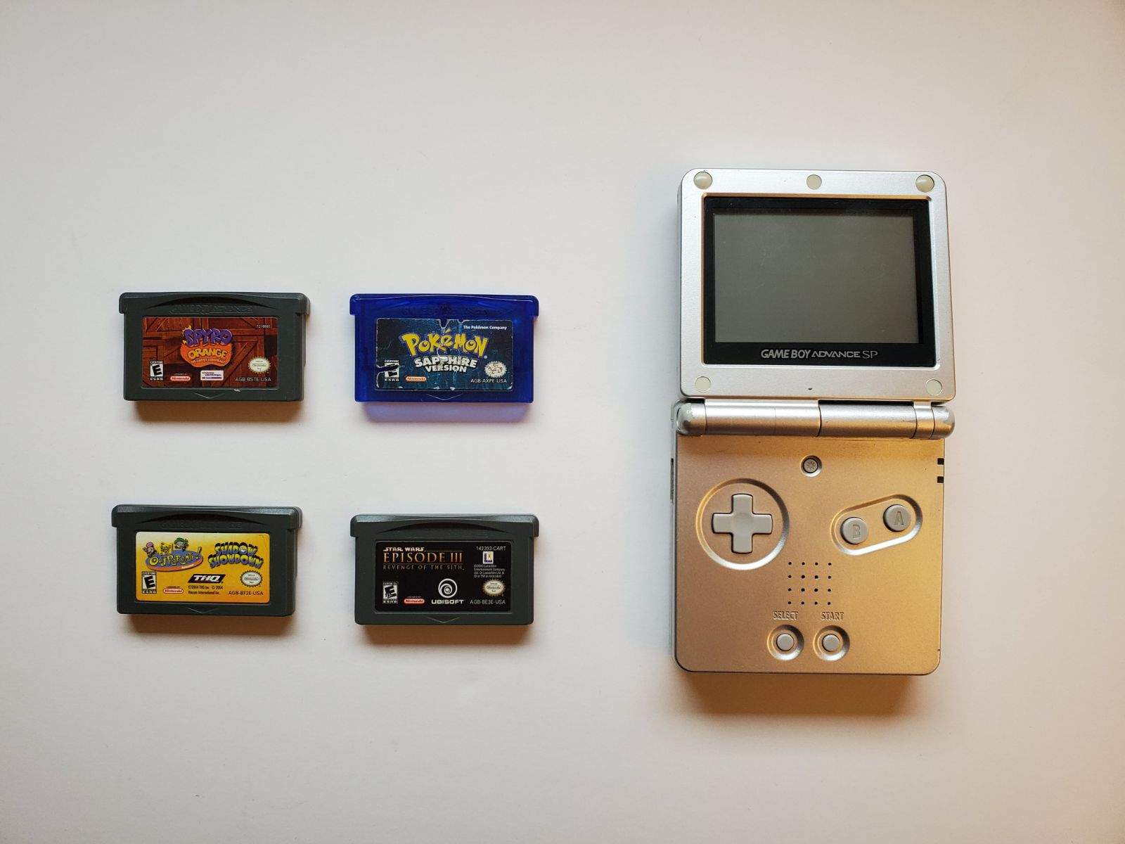 Gameboy Advance SP Platinum Silver