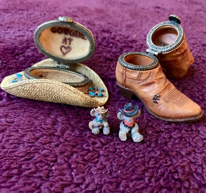 Boyds Bear Rare Cowboy Treasure Boxes