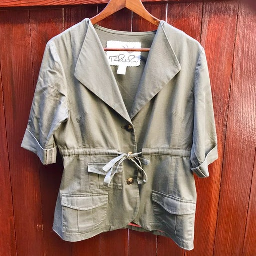 Anthro Tabitha Green Cinched Jacket