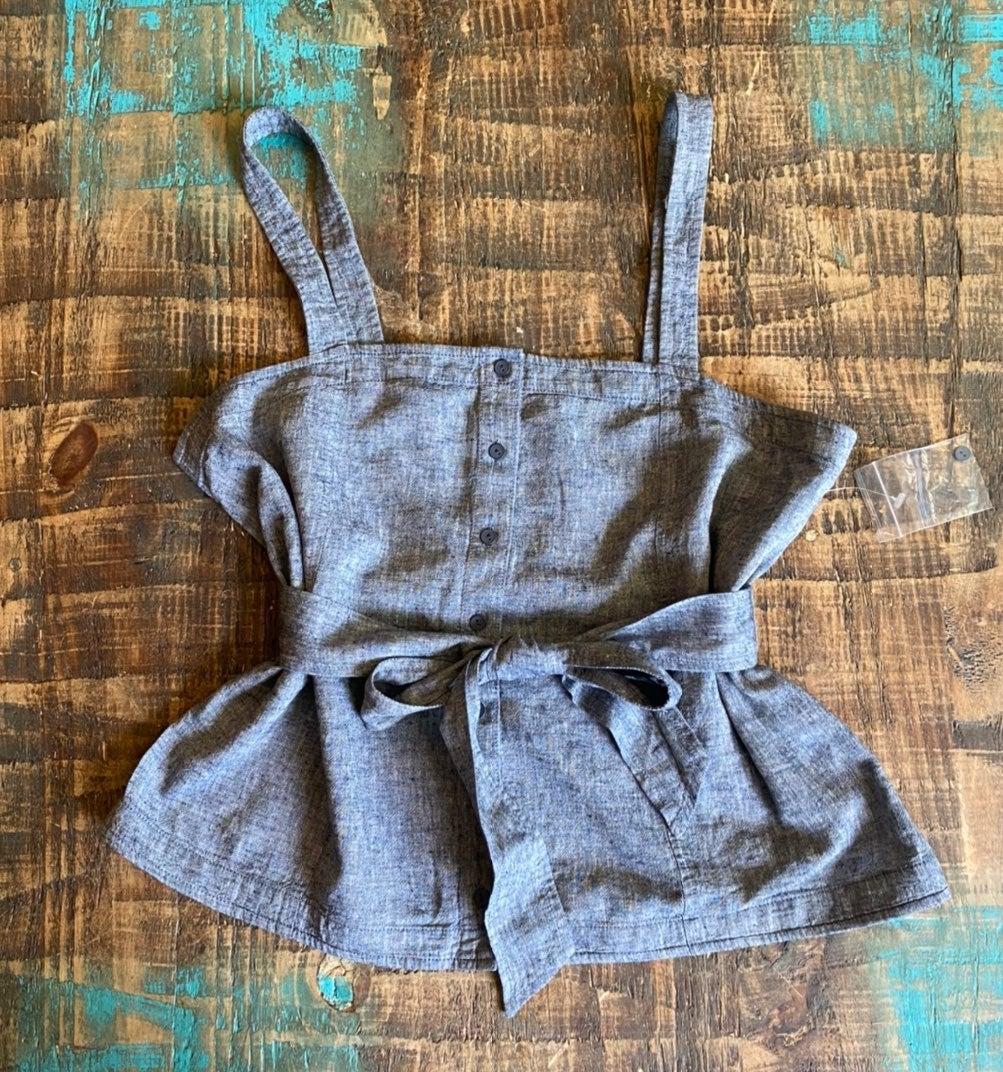 New chelsea 28 chambray tank blouse M