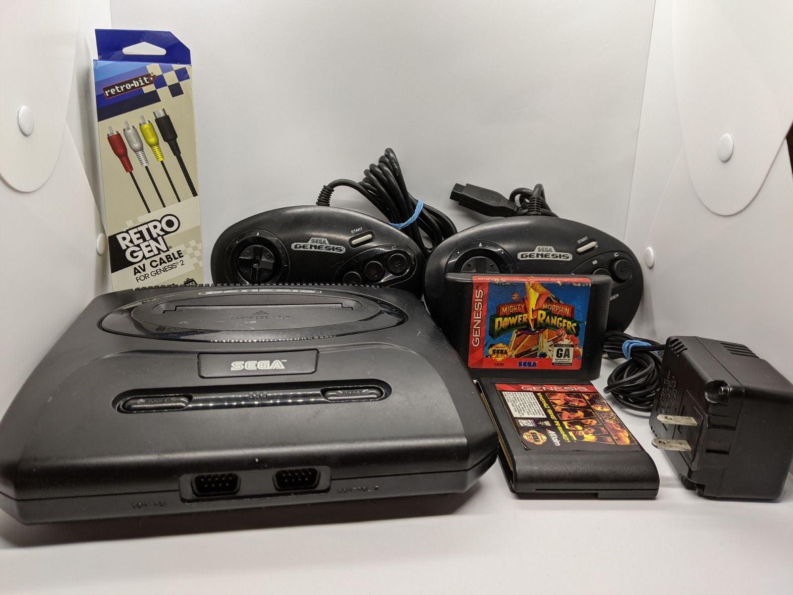 Sega Genesis 2 + cords controllers games
