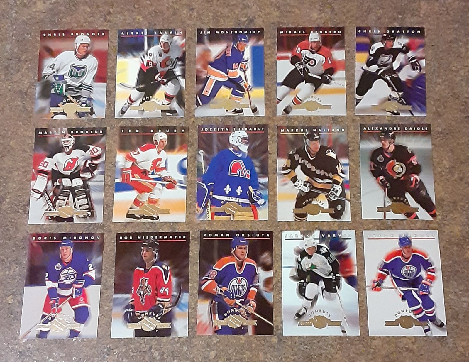 Vintage 1990's NHL Collectible Hockey Ca