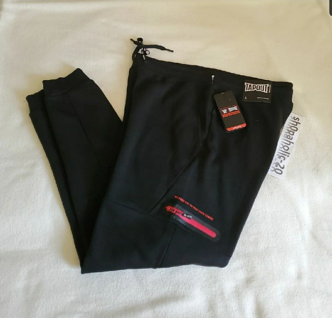 Tapout Jogger Pants Black Mens Large
