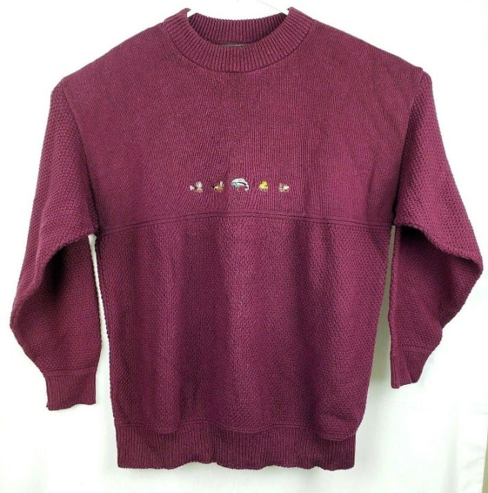 Orvis Embroidered Fishing Lures Sweater