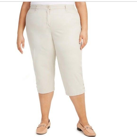 Karen Scott Plus Capri Pants 22W NEW