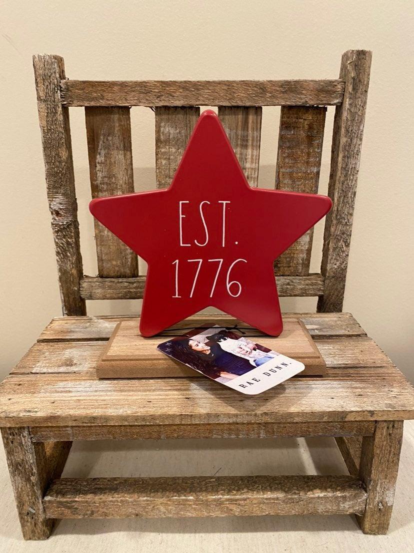 Rae Dunn Patriotic 1776 Metal Star Sign