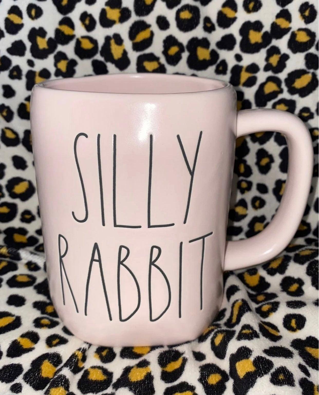 Rae Dunn Pink Silly Rabbit Mug