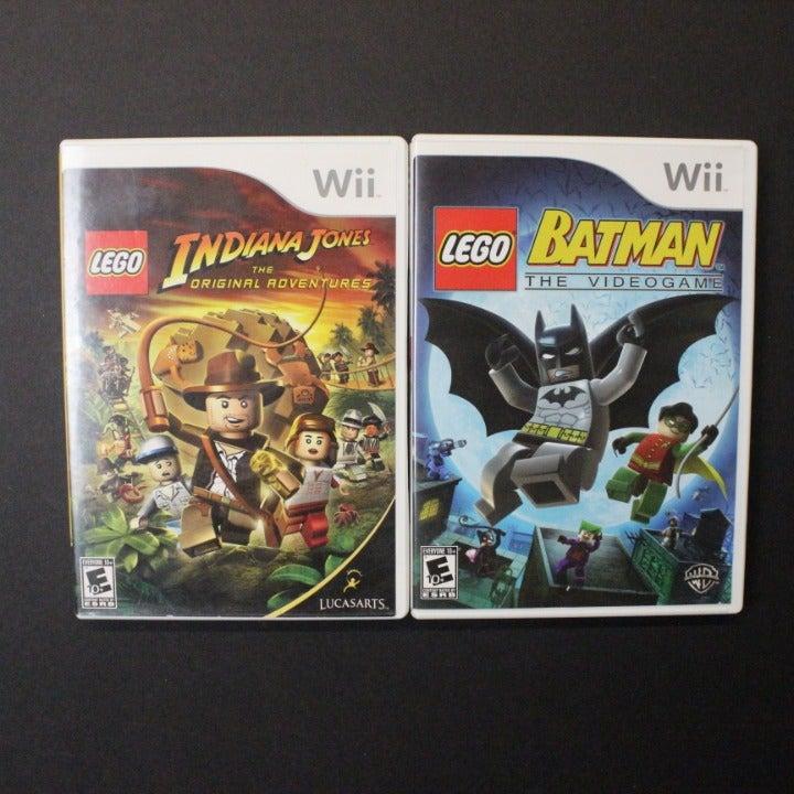Wii Lego Indiana Jones & Batman Game Lot