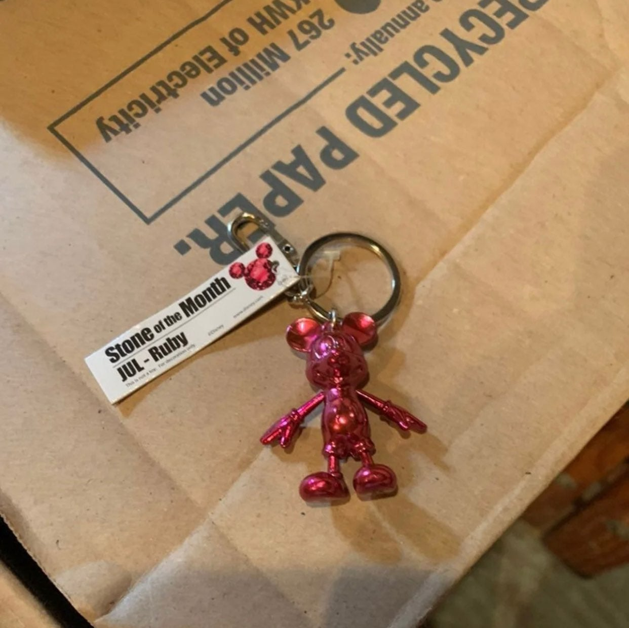 Disney mickey mouse ruby keychain