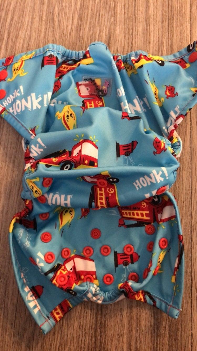 Firetruck Diaper Cover
