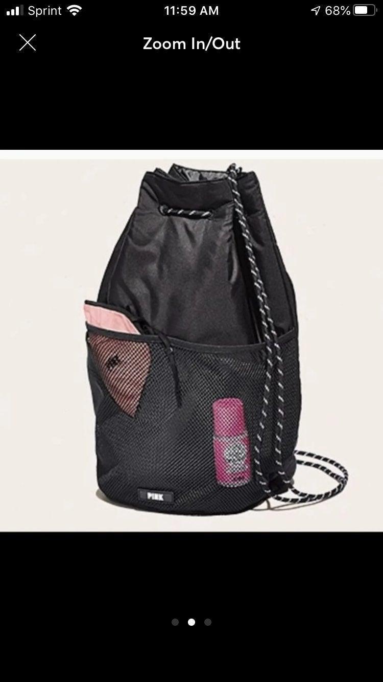 VS Pink Drawstring Backpack Bag