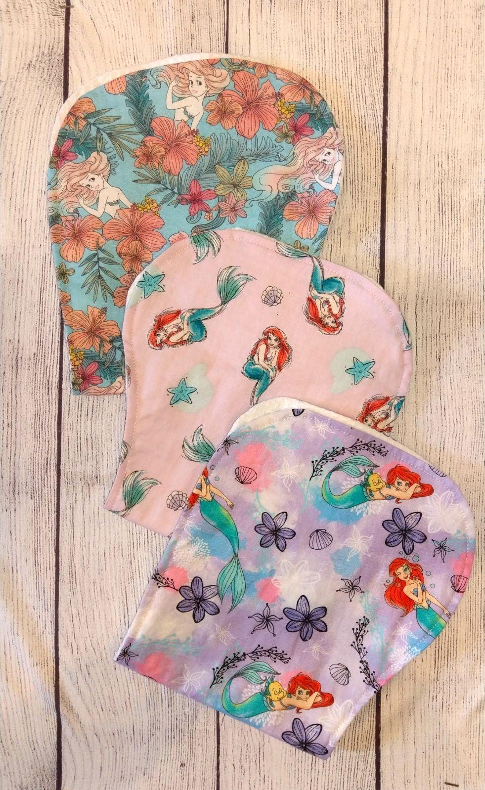 Disney little mermaid baby burp cloths