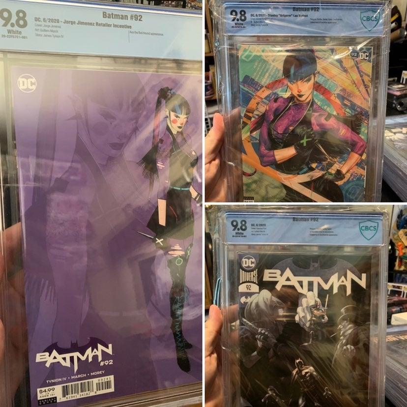 Batman 92 CBCS 9.8 Cover Set Punchline