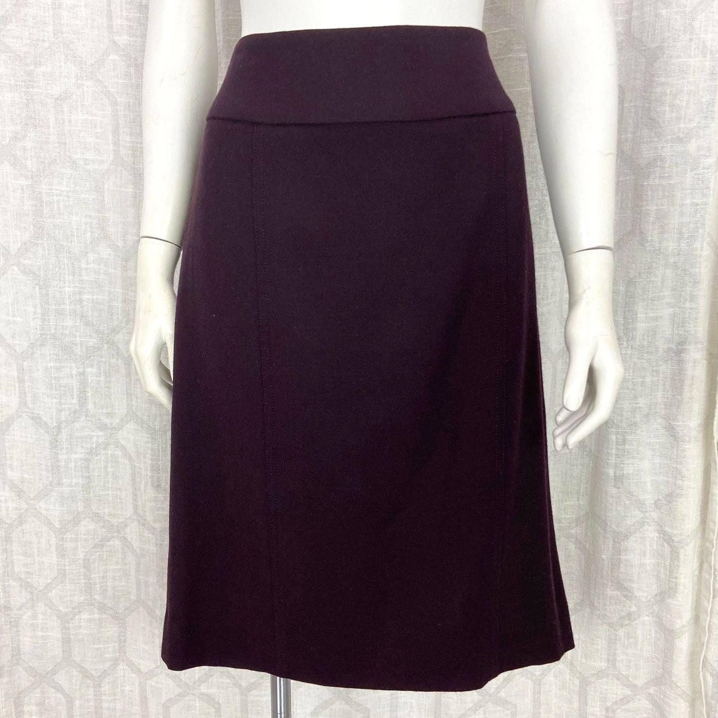 Per Se Eggplant Purple Career Skirt