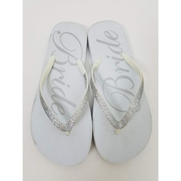 Bride Wedding Flip Flops 7/8