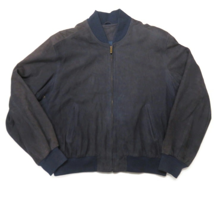 Coach Suede Leather Bomber Jacket Medium