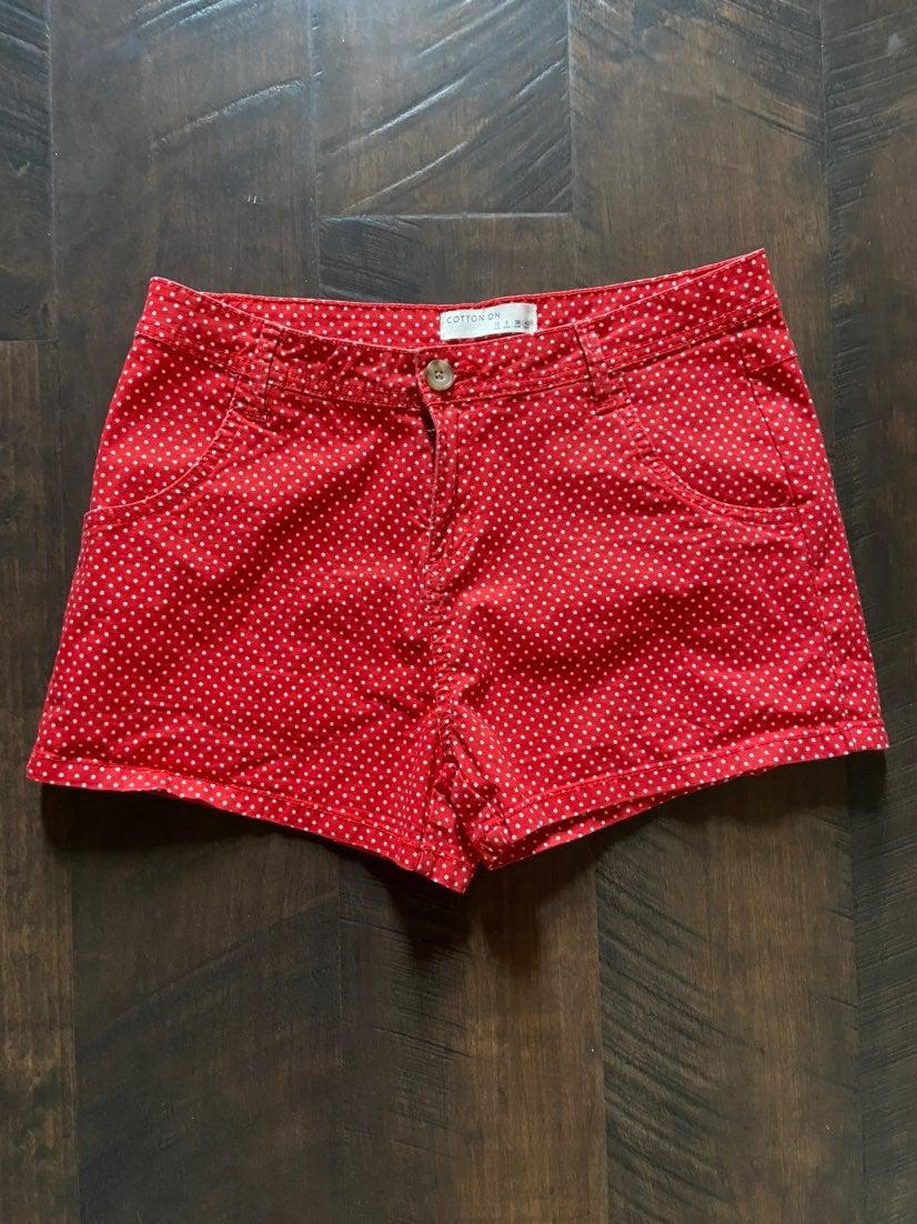 cotton on polka dot chino shorts