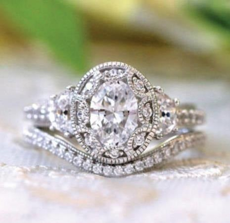 NEW Stamped 925 Silver/18K 2P Ring 15 S8