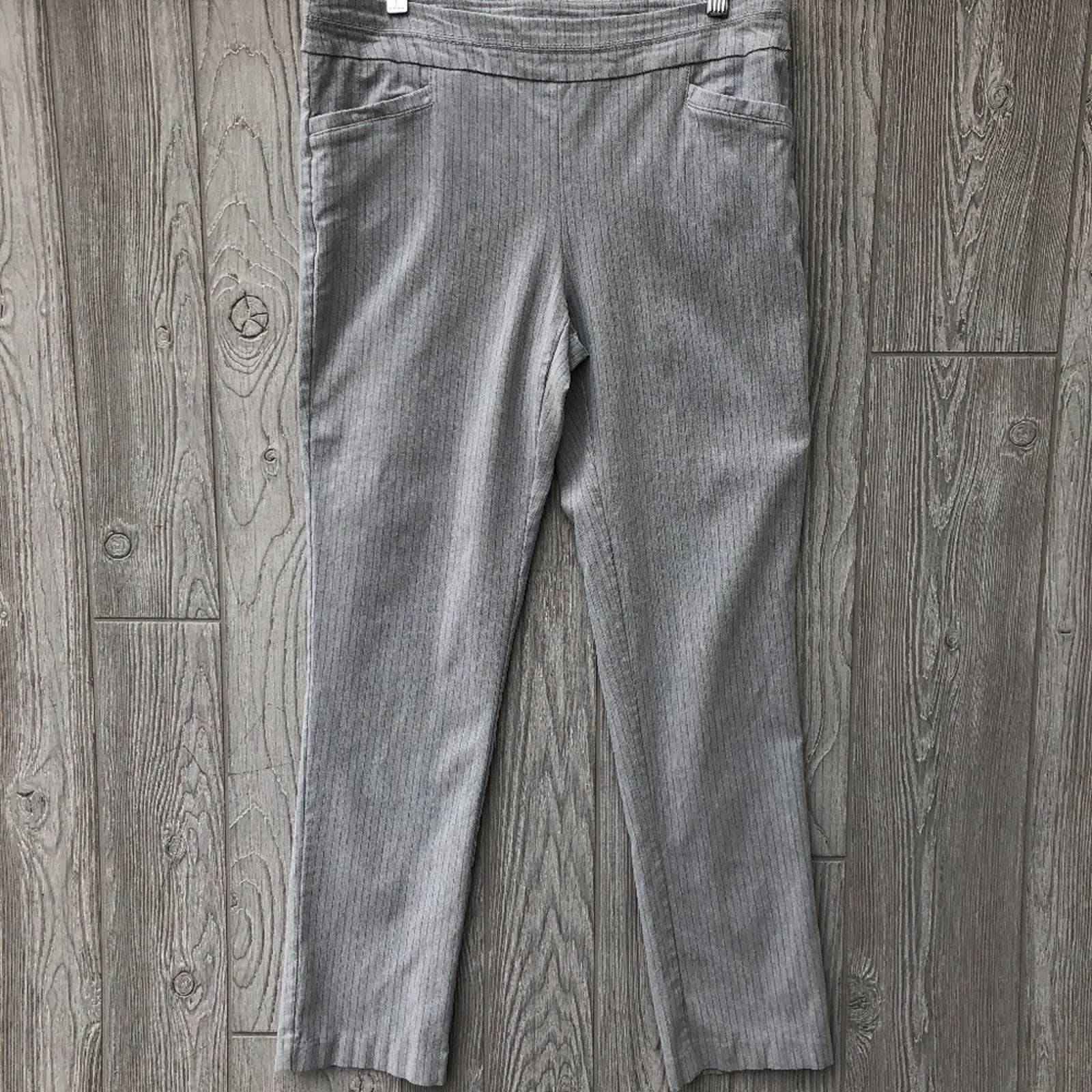 Apt 9 Gray Stripe Work Skinny Legging
