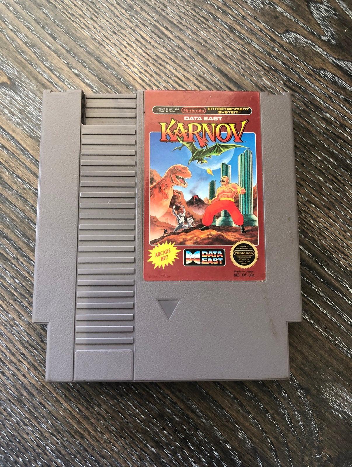 Vintage NES Game 'Karnov!'