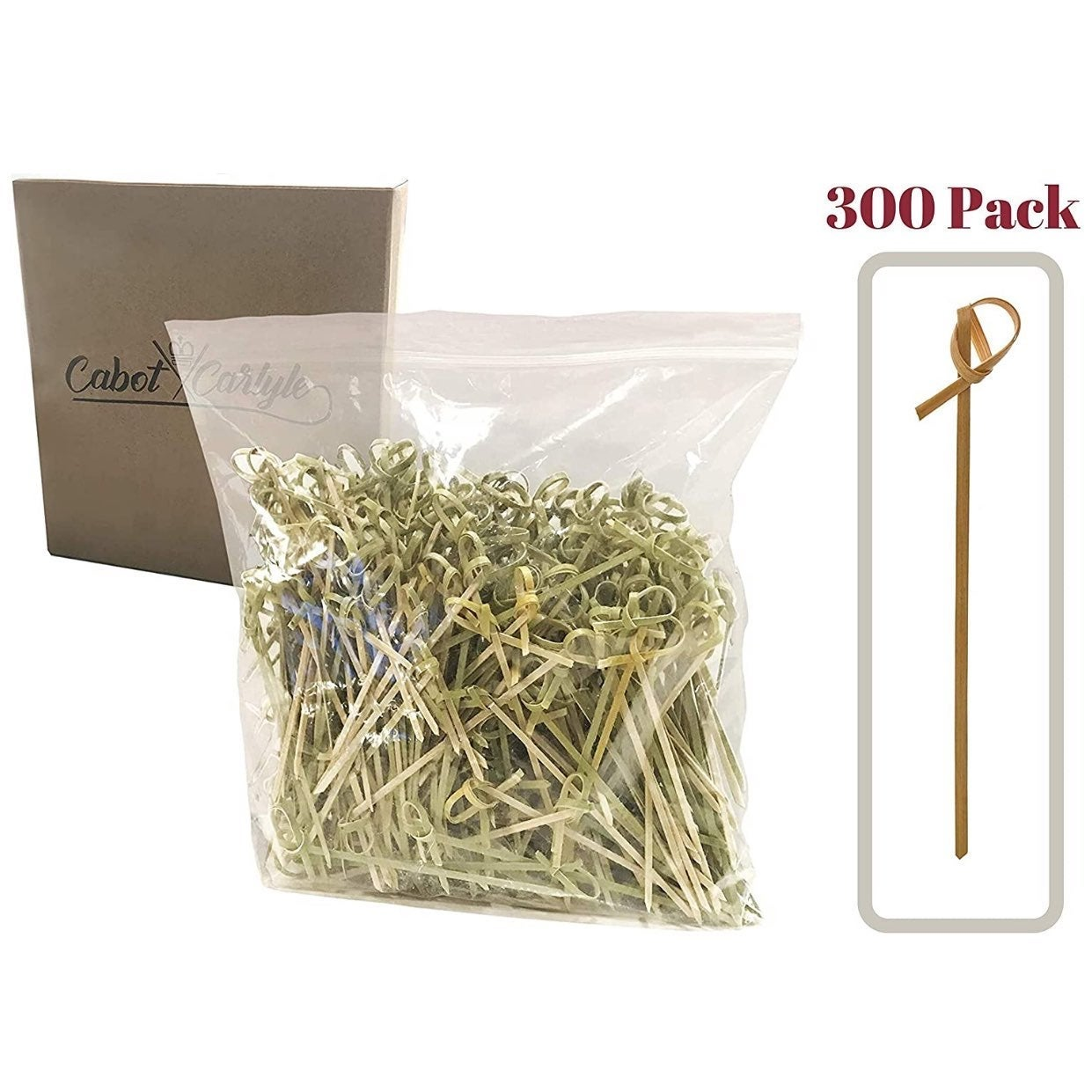 Bamboo Cocktail Picks 300 Pack 4.1 inch