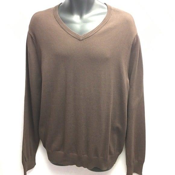John Ashford sable Brown VNeck Sweater