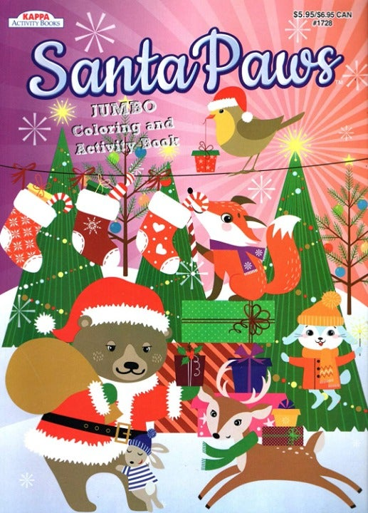 Santa Paws - Coloring Book