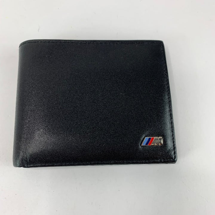 BMW M Bifold Black Leather Wallet