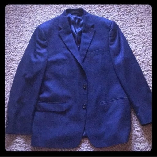 Ralph Lauren Navy Blue Mens Blazer Sz 42