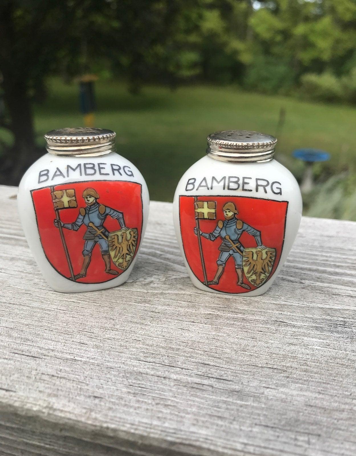 Bamberg Bavaria porcelain s&p shaker