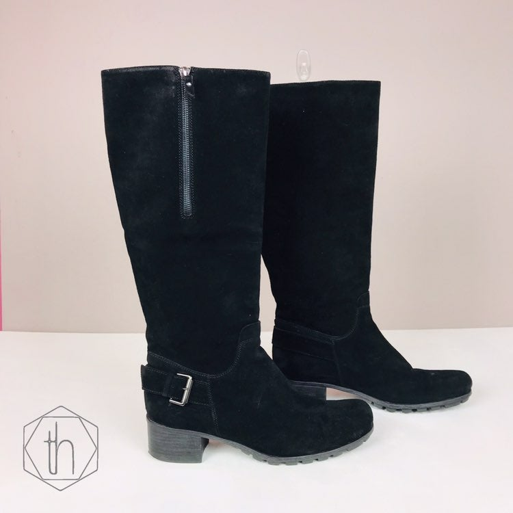 Aquatalia womens suede riding boots 9